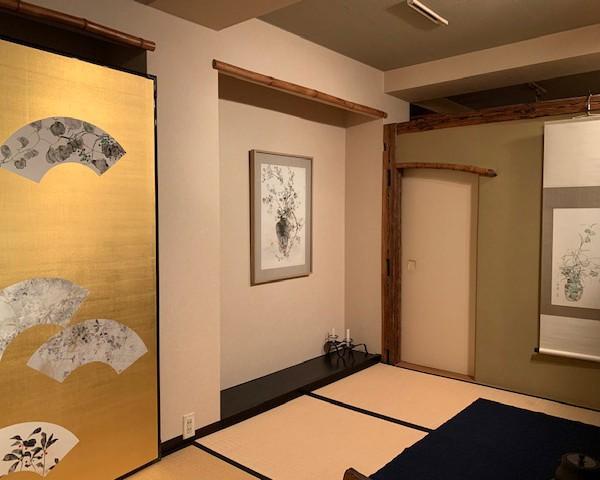 新倉章子展「墨芳如花」展示風景の様子